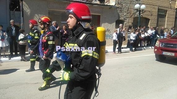 Παρέλαση Συλλόγου Εθελοντικών Δυνάμεων Δασοπροαστασίας και Διάσωσης Ψαχνών