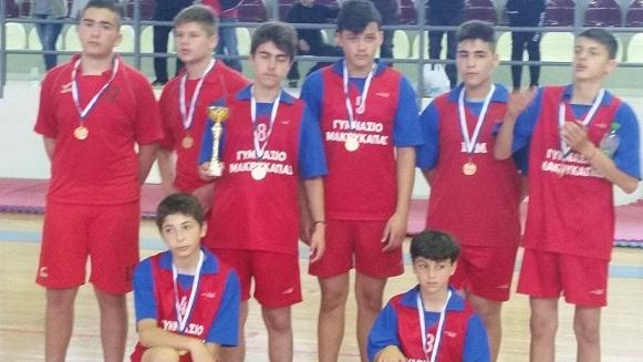 Δεύτερη θέση στο πρωτάθλημα μπάσκετ του Δήμου Διρφύων Μεσσαπίων για το Γυμνάσιο της Μακρυκάπας