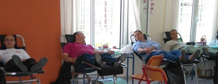 145 φιάλες αίματος  ο «απολογισμός» της 4ης εθελοντικής αιμοδοσίας