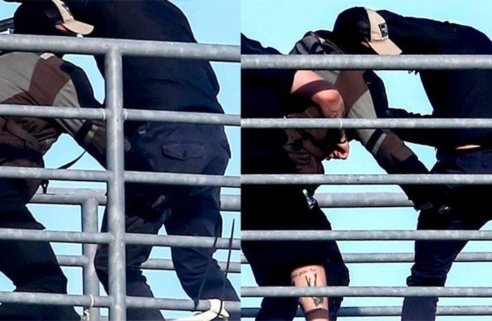 Εικόνα σοκ: Χούλιγκαν του ΠΑΟΚ μαχαιρώνει οπαδό της ΑΕΚ στο Πανθεσσαλικό