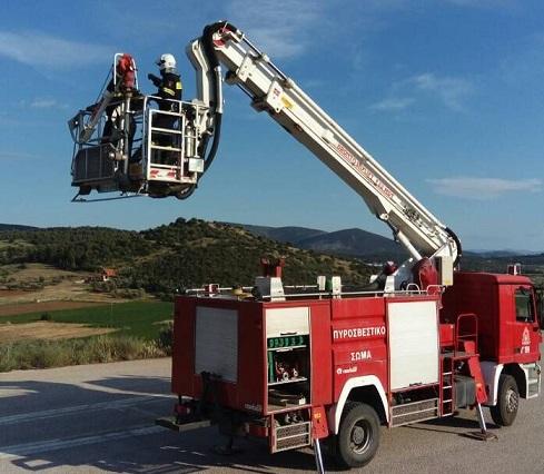 Σε 22 μέτρα ύψος εκπαιδεύτηκαν οι εθελοντές του ΣΕΔΔΔ Ψαχνών