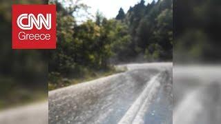 Το απίστευτο φυσικό φαινόμενο που προκάλεσε ο καύσωνας στο όρος Δίρφυς (video)