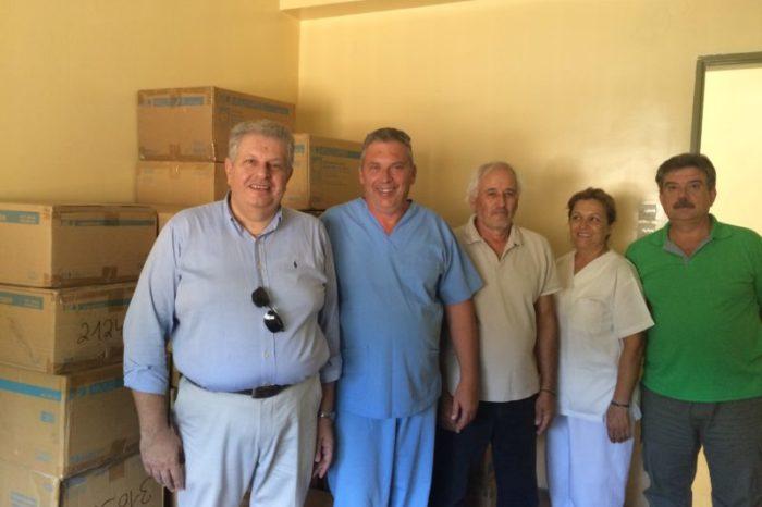 Υγειονομικό υλικό προσέφερε στο Κέντρο Υγείας Ψαχνών ο πολιτευτής της Νέας Δημοκρατίας Βασίλης Δεμερτζής