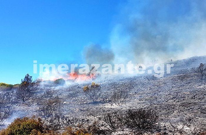 Κατακαίει την Ζάκυνθο η πυρκαγιά: 20 τα μέτωπα σε όλο το νησί