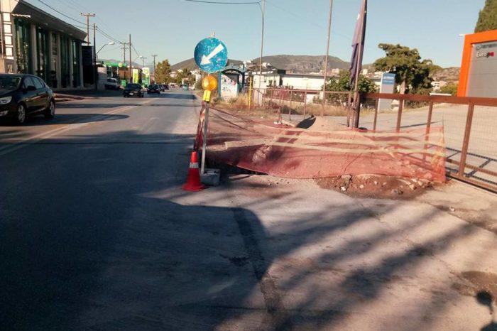 Έξω Παναγίτσα: Μετά το ατύχημα μπήκαν και οι πινακίδες και τα φώτα για την νύχτα