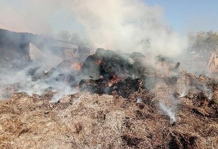 Φωτιά έκαψε στάβλο πολύτεκνου  Ιερέα στα Ψαχνά