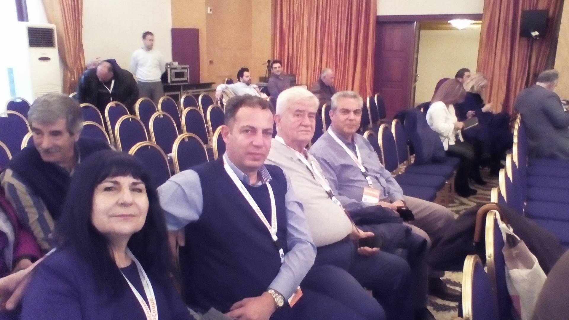 Ψαθάς-Ματράκας-Σπαθής-Ράζος και Μύταλα  στο ετήσιο συνέδριο της ΚΕΔΕ στα Ιωάννινα 24251470 1465075066946247 1584266830 o