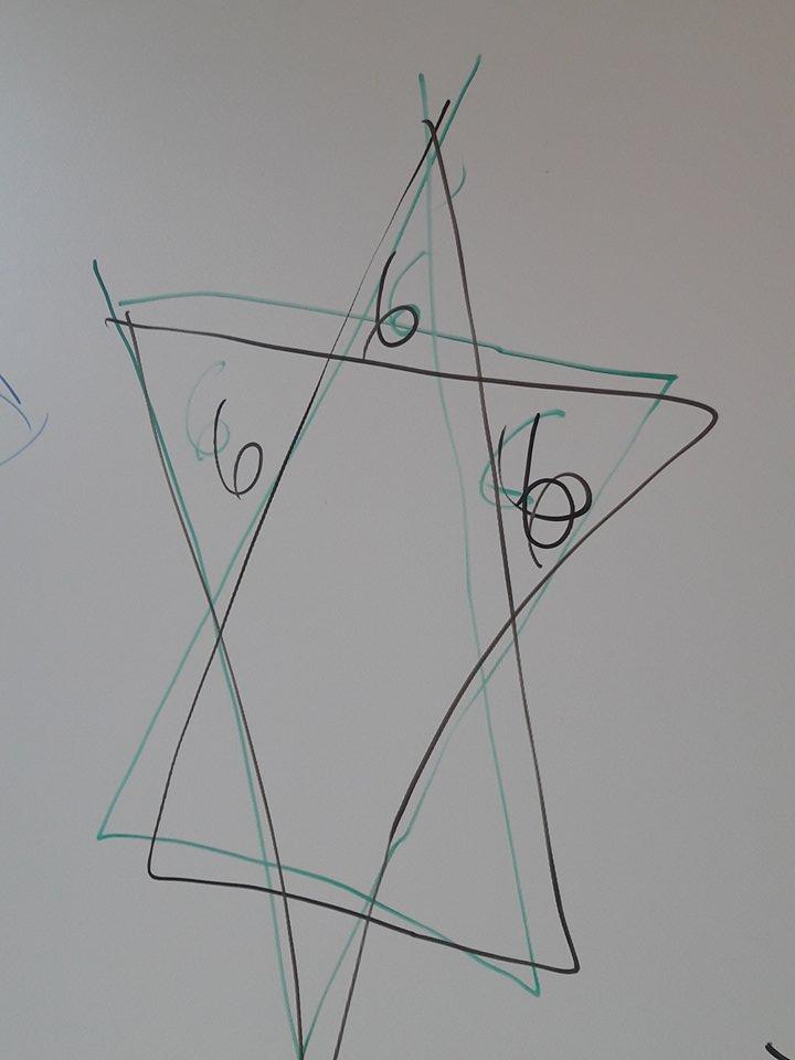 Κλοπή  στο Λύκειο Ψαχνών:Αφού έκλεψαν και  τα έκαναν «γυαλιά-καρφιά» ζωγράφισαν πεντάλφες και το σύμβολο του Σατανά στους πίνακες του σχολείου ! (φωτογραφίες-video) 25360503 1507943372576140 2061555406 n