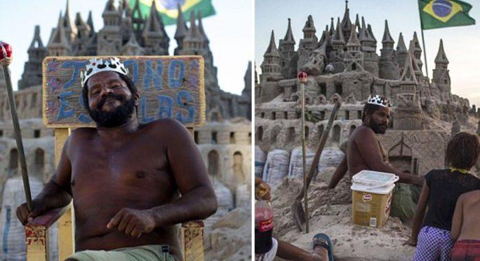 44χρονος ζει μέσα σε κάστρο φτιαγμένο από άμμο εδώ και 22 χρόνια