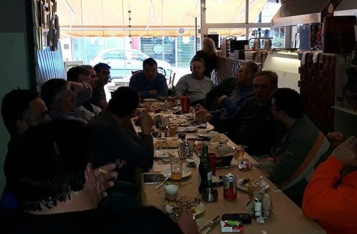 Δήμαρχος Αντιδήμαρχοι και Υπάλληλοι σε «φιλικό τραπέζι» στα Βαρελάκια