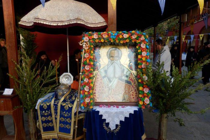 Με λαμπρότητα ο εορτασμός του Αγίου Παρθενίου στην Ιερά Μονή Μακρυμάλλης