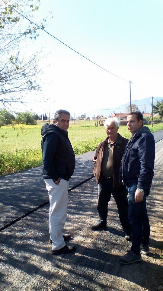 Ασφαλτόστρώθηκε η Οδός  Αρκαδίου στα Πολιτικά 29939340 1591554584298294 1548378300 n