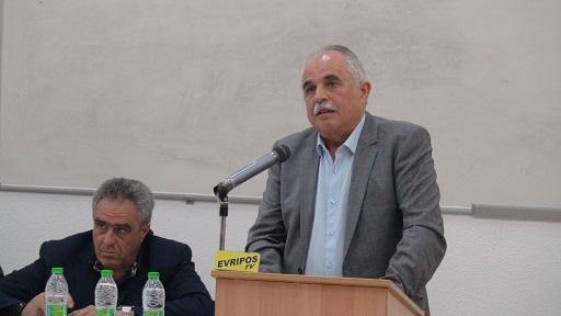 Ο Βουλευτής του Σύριζα Αναστάσιος Πρατσόλης στην σύσκεψη για την Λάρκο στο ΤΕΙ Χαλκίδας (Δελτίο τύπου)