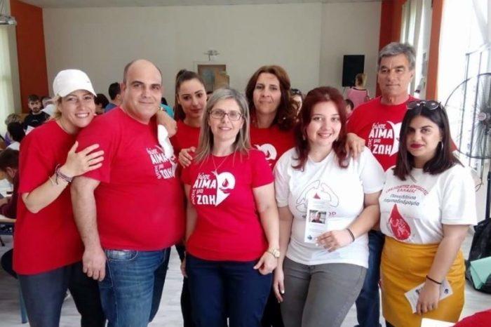 Ευχαριστήριο επιτροπής αιμοδοσίας Δήμου Διρφύων-Μεσσαπίων προς τους χορηγούς
