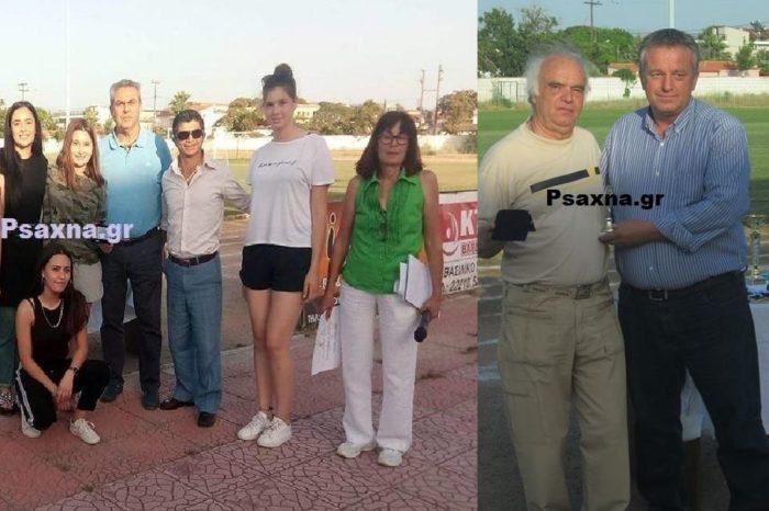 Τιμήθηκε ο παλαίμαχος ποδοσφαιριστής Δημήτρης Λεοντής και η γυναικεία ομάδα του Λυκείου Ψαχνών στον τελικό του σχολικού πρωταθλήματος Δήμου Διρφύων Μεσσαπίων