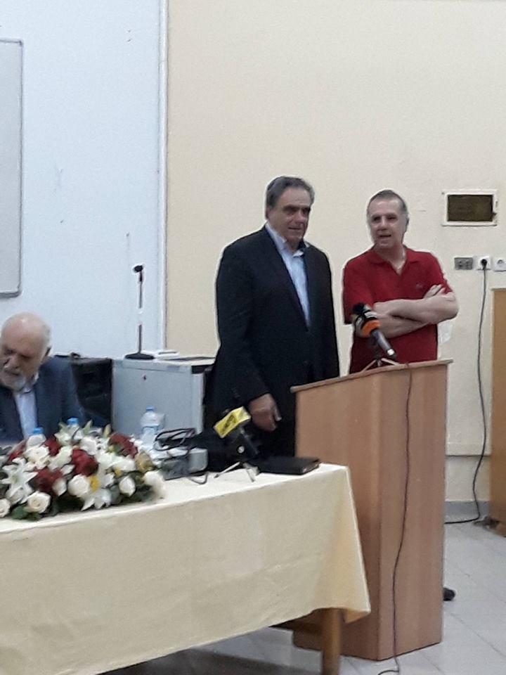 Ο Υπουργός Παιδείας Κώστας Γαβρόγλου στα Ψαχνά (φωτό) 36277449 1686667361453682 3457400780099682304 n
