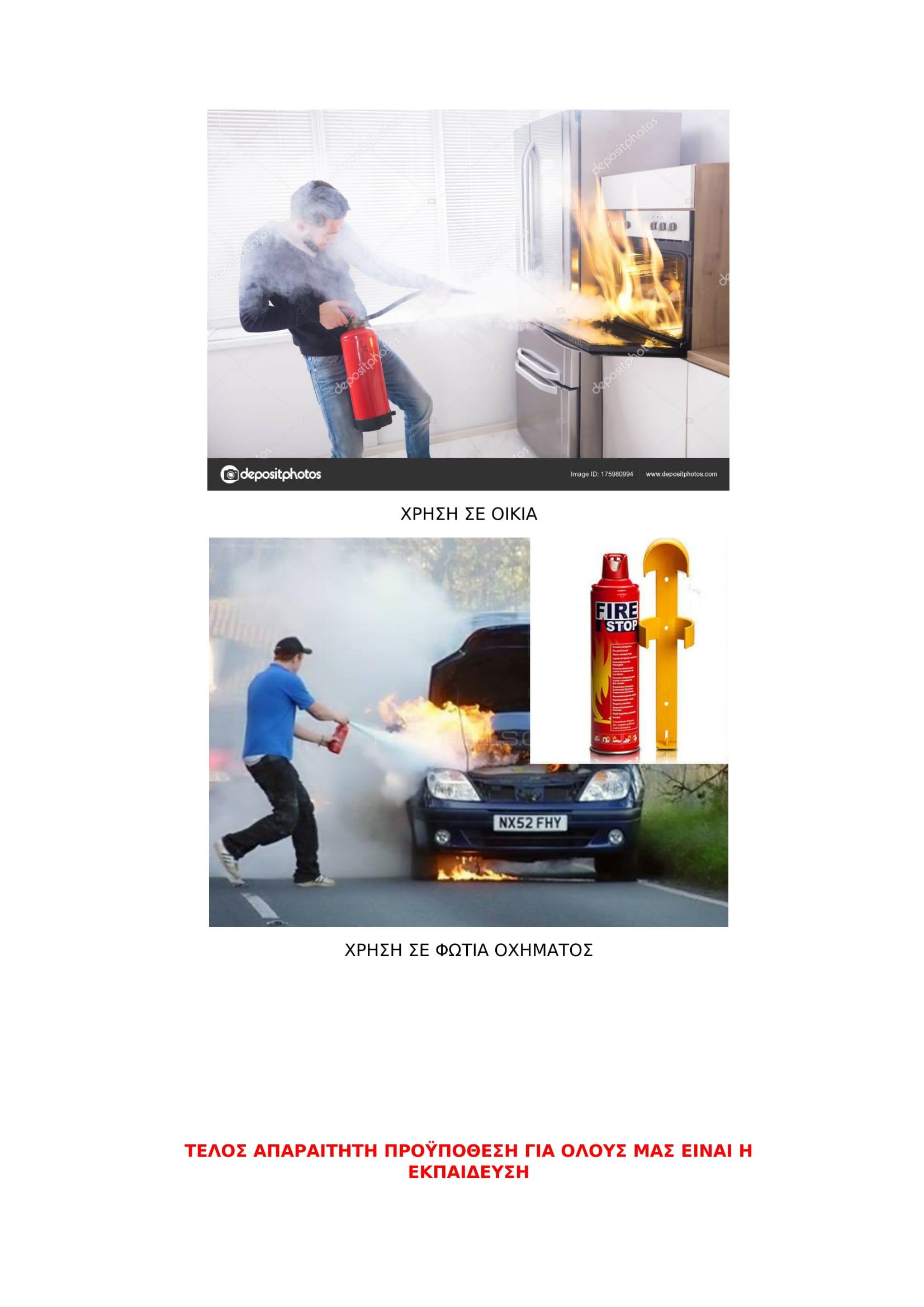 «Πυροσβεστήρας: Φίλος μας ή εχθρός μας;»                           1 09