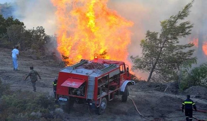 Φωτιά στην Άτταλη του Δήμου Διρφύων Μεσσαπίων