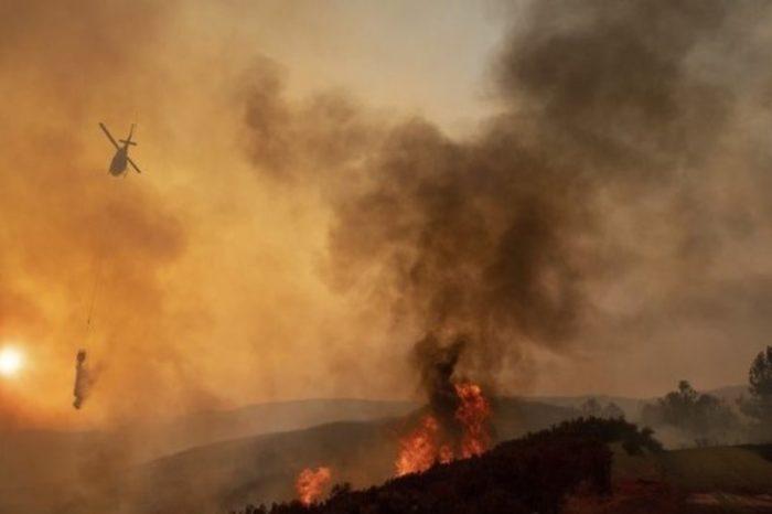 Πύρινη λαίλαπα στη Ζάκυνθο από δύο φωτιές σε Μαχαιράδο και Κοιλιωμένο