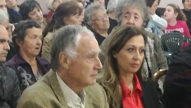 Νίκος Χασάνδρας και Τζοβάννα Γκόγκου στα εγκαίνια του συλλόγου «Εν χορώ»