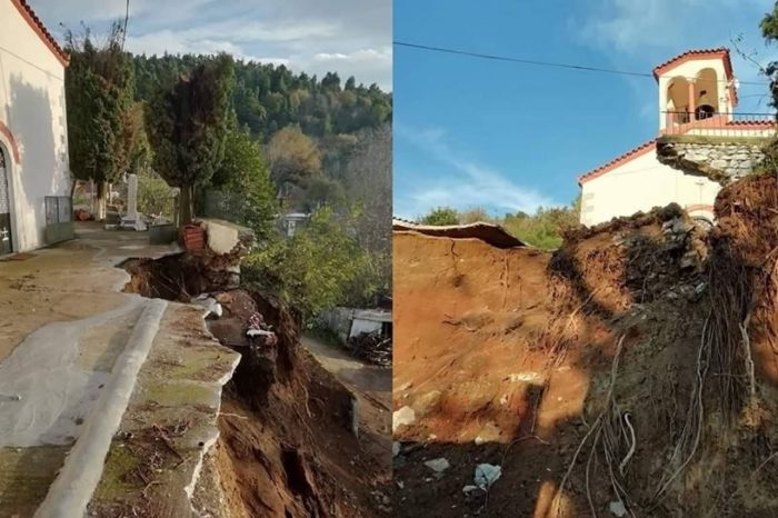 Μαρκάτες:  Έτοιμο να καταρρεύσει με την πρώτη  κακοκαιρία  το εκκλησάκι της Θεοτόκου (φωτογραφίες)