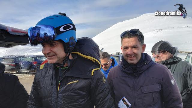 Για σκι στο Βελούχι ο Κυριάκος Μητσοτάκης (video)
