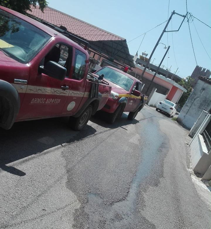 Πολιτικά: Συνεργεία του Δήμου επισκευάζουν τον δρόμο κοντά στην πλατεία 66448303 432917843961939 6133262901265301504 n