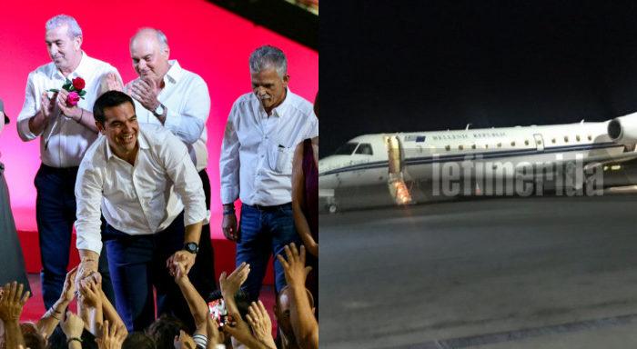 Με το πρωθυπουργικό αεροσκάφος ο Τσίπρας στην Κρήτη