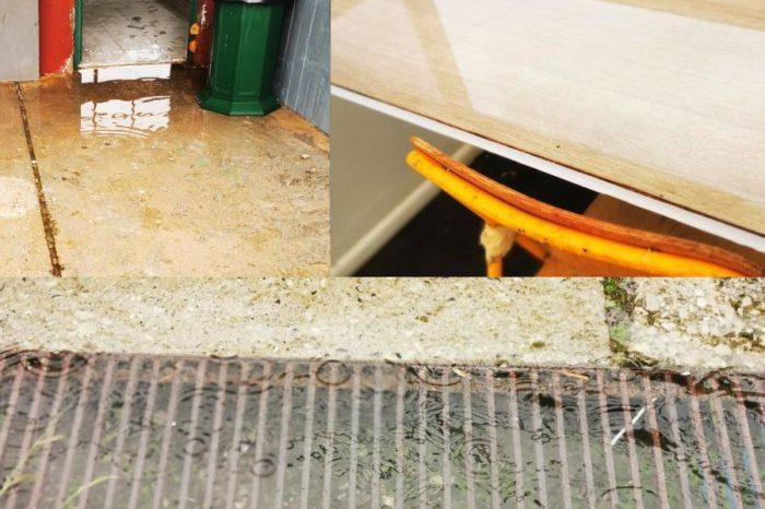 Πλημμύρισαν φρεάτια και δημοσιογραφικά θεωρεία με μια βροχή στο Δημοτικό στάδιο Ψαχνών-Η αδιαφορία της Δημοτικής αρχής στην επιφάνεια άλλη μια φορά (φωτό-video)
