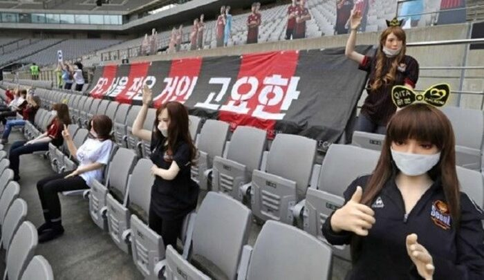 Σάλος στη Νότια Κορέα με τις φουσκωτές κούκλες στις κερκίδες - Η συγγνώμη της ομάδας - ΦΩΤΟ