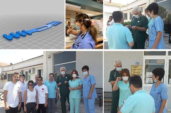 Ο Διευθυντής και οι μαθητές του ΕΠΑΛ Ψαχνών προσέφεραν 30 εξαρτήματα χειρουργικής μάσκας στο προσωπικό του κέντρου Υγείας Ψαχνών