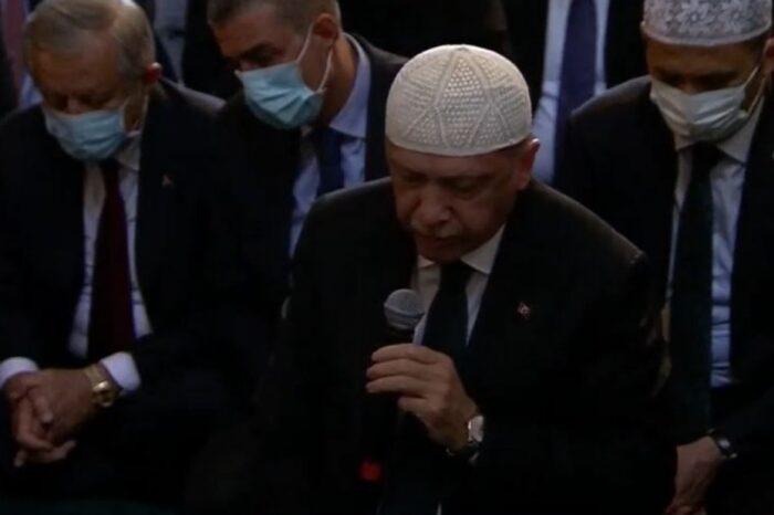 Η προσευχή του  Ερντογάν στην Αγια Σοφιά - «Έγινε και πάλι τζαμί» ! δήλωσε ο Τούρκος Πρόεδρος