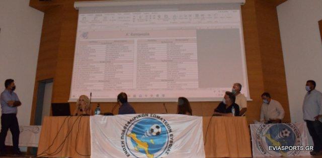 ΕΠΣ Ευβοίας:Οι κληρώσεις όλων των πρωταθλημάτων 2020-21