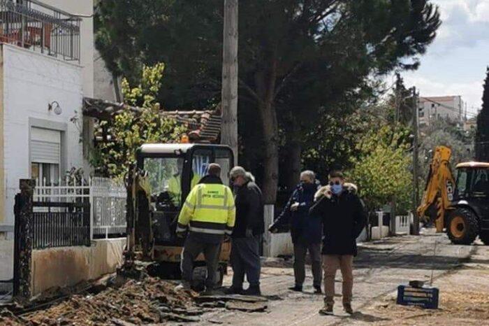Έργα στην Οδό Ποσειδώνος-Παρακαλούνται οι οδηγοί να μην παρκάρουν