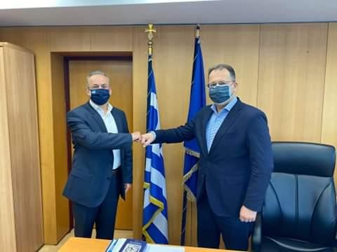 Συνάντηση Θ. Ζεμπίλη με τον Υφυπουργό Γ. Στύλιο για τα υποκαταστήματα των ΕΛΤΑ στην Εύβοια και το Κτηματολόγιο