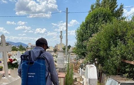 Απολυμάνθηκε το Νεκροταφείο Ψαχνών